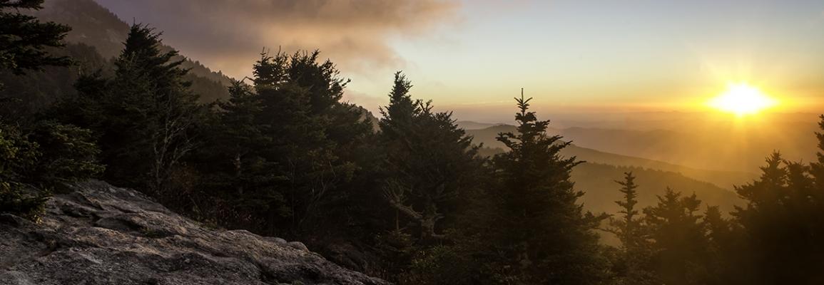Sunrise at Grandfather Mountain